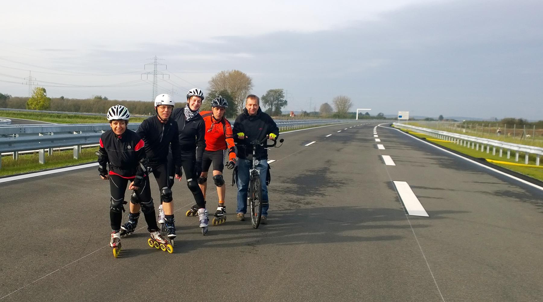 Speedteamler auf der A26 zwischen Jork und Horneburg